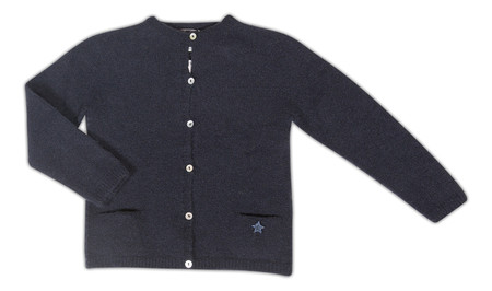Kid's Tocoto Navy Knitted Cardigan- CouCou Boston