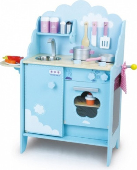Vilac Sky Blue Kitchen Playset - CouCou Boston