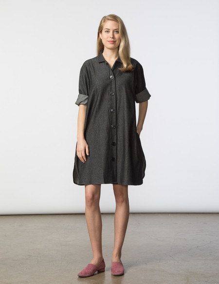 SBJ Austin Stacey Dress - Black Denim