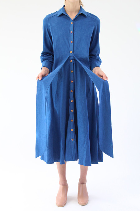 Heinui Lucio Dress Washed Indigo