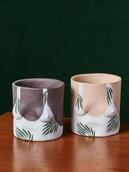 Group Partner Leafy Boobs Pot