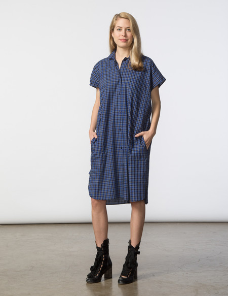 SBJ Austin R Dress - Blue Check