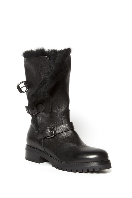 Sartore Buckled Fur Boot Rabbit