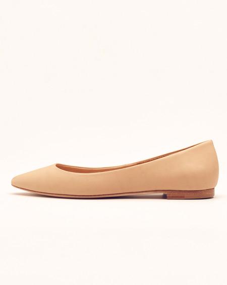Nisolo Ava Ballerina Flat Beige 5 for 5