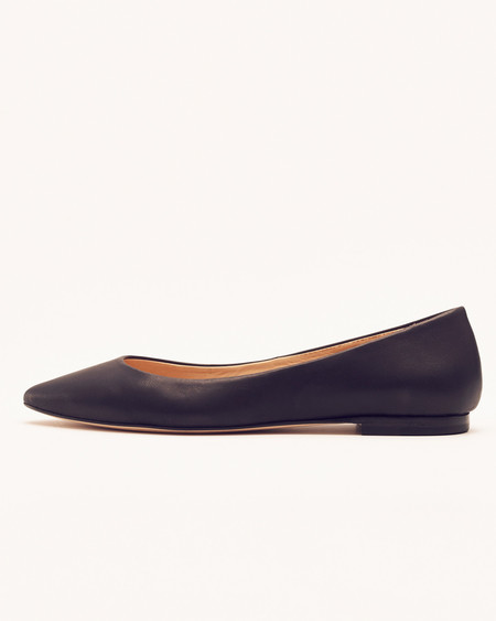 Nisolo Ava Ballerina Flat Noir 5 for 5