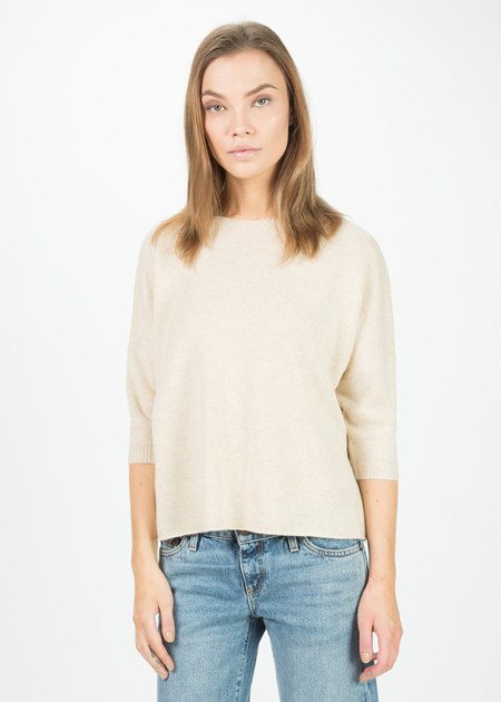 Crop Elbow Sleeve Sweater