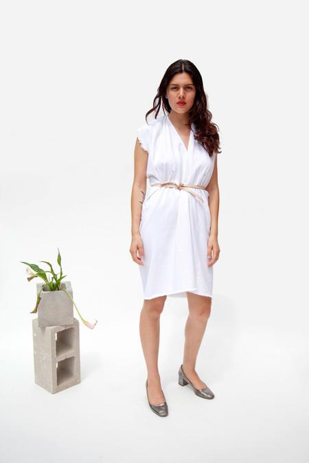 Miranda Bennett In-Stock: Tribute Dress, Denim in White