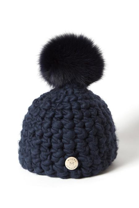 Mischa Lampert Midnight Hat/ Navy Pom