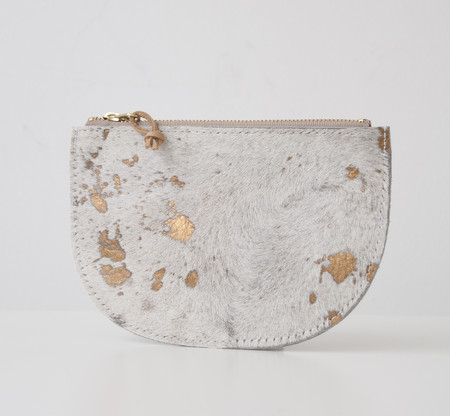 CHC Half Moon Pouch - Gold Cowhide