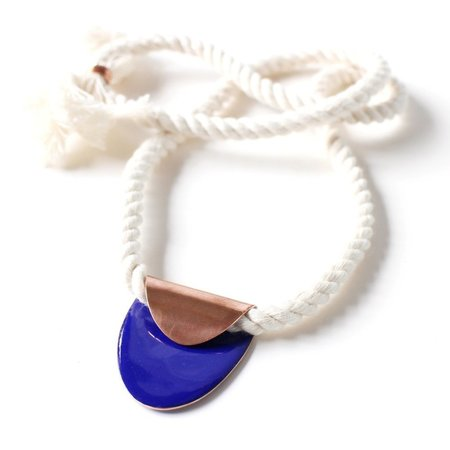 Alisha Louise Folded Necklace Oval