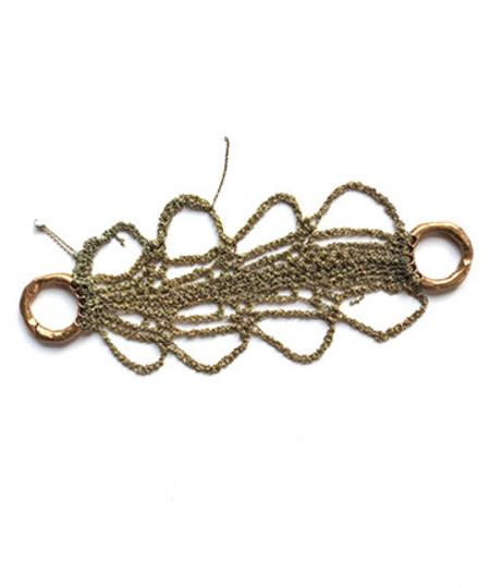 Arielle De Pinto Reaper Bracelet in Haze Gold