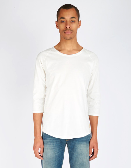 Nudie Quarter Sleeve Tee Offwhite