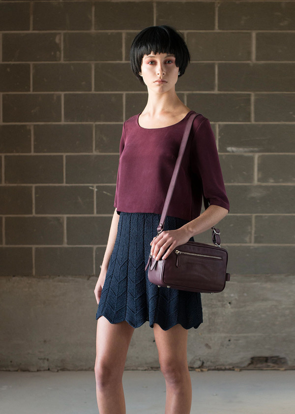 Malorie Urbanovitch Hand Knit Pleated Skirt