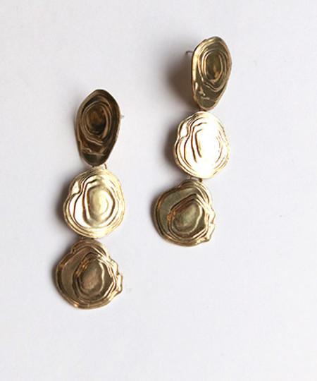 Leigh Miller On The Halfshell Earrings in Brass