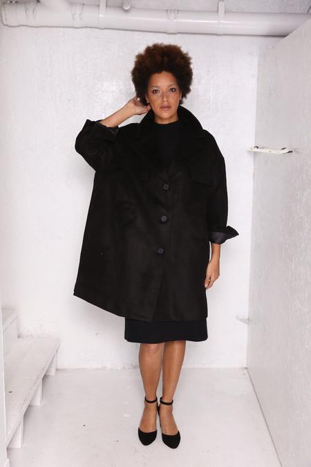 Intentionally Blank MARVEL wool work coat in black