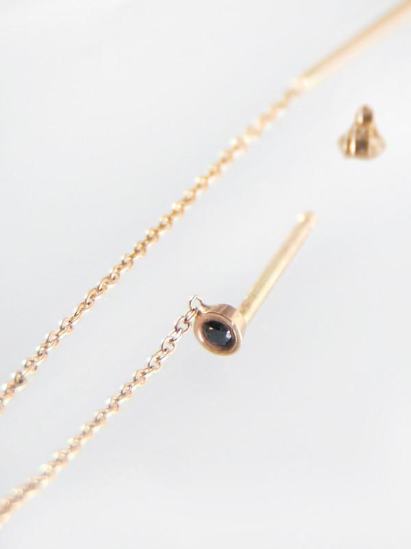 Still House Vesa Earring Black Diamond