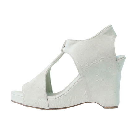 Slow and Steady Wins the Race Wedge Sandal in Light Denim - Size 41
