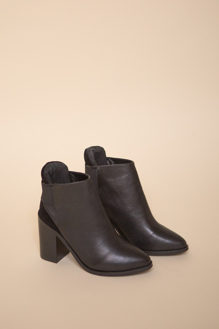 Sol Sana Monk Leather Boot - Black
