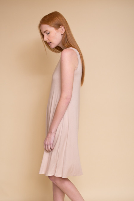 BLQ Basiq Midi Swing Dress - Creme