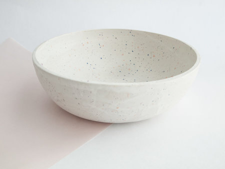 "YYY 9"" low confetti bowl"