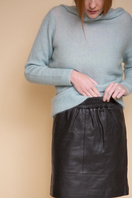 Just Female Mood Leather Skirt - Black
