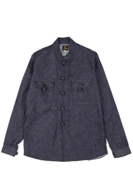 Men's Needles Oriental Button Shirt - 6oz Denim