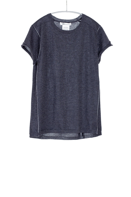 Paychi Guh Cashmere Baby Tee Charcoal