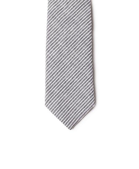 Neighbour Cotton Tie Black Striped