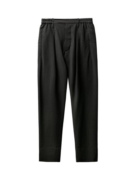 Lemaire Elasticated Pants Seersucker Black