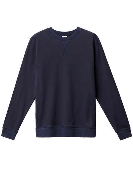 Sunspel Heavyweight Cellulock Sweat Top Navy