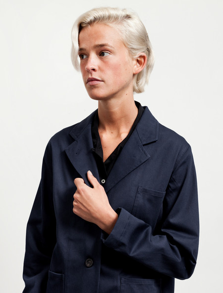 Sherie Muijs Womens Jacket No°13 Cotton Drill Navy