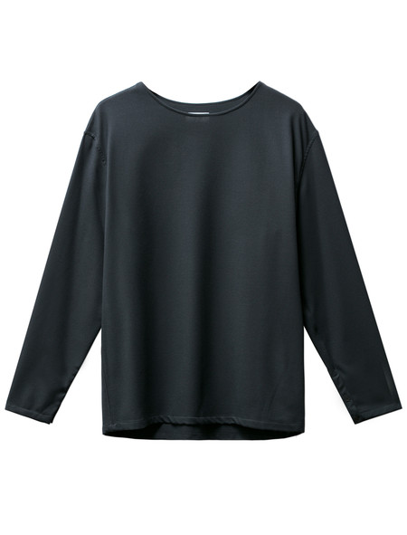 Lemaire Mens Long Sleeve Tee-Shirt Midnight