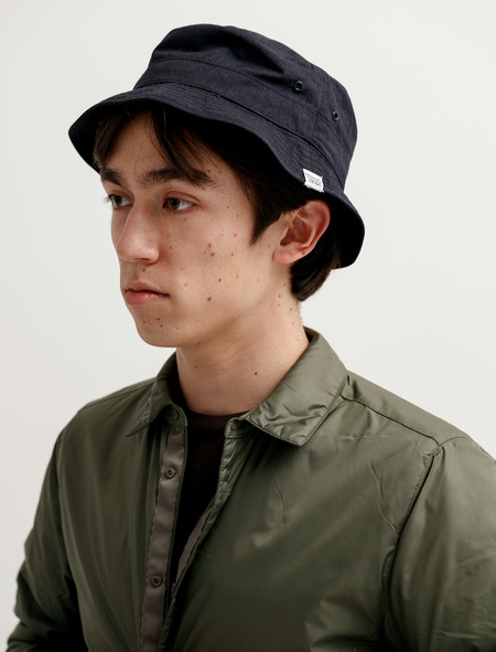 Norse Projects Packable Bucket Hat Indigo Melange
