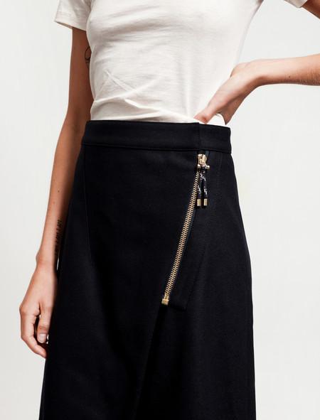 Acne Studios Panna Wool Skirt Navy