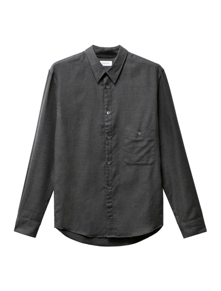 Lemaire Pointed Collar Shirt Anthracite