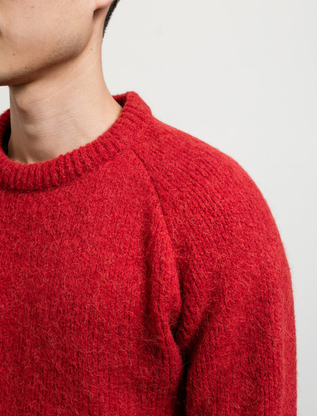 Our Legacy Roundneck Raglan Red Needled