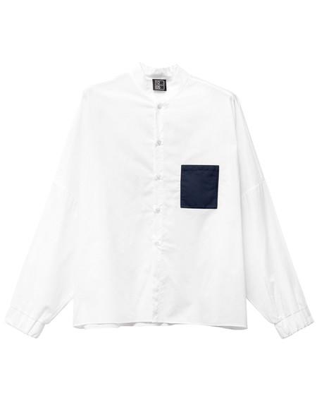 1205 Men's Wide Sleeve Shirt Navy