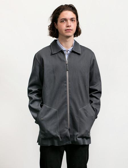 Tres Bien Homme Men's Zip Coat Kuroki Grey Denim