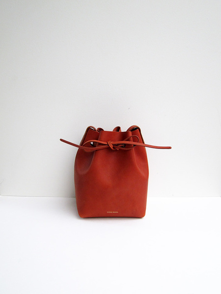 Mansur Gavriel Mini Bucket Bag, Brandy/Brick