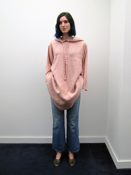 Unisex 69 Hooded Everything Dress with Storage, Dusty Rose