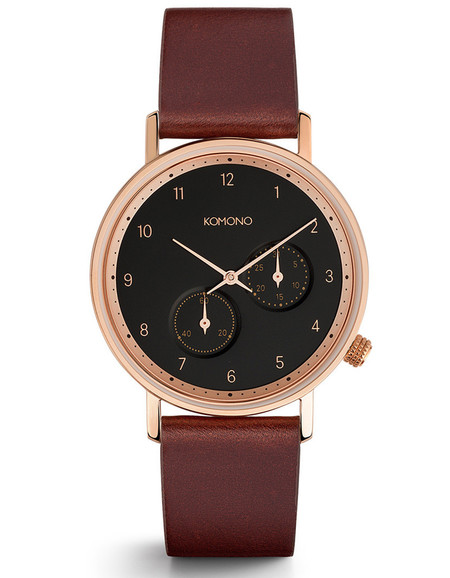 Komono Walther Crafted Watch Burgundy