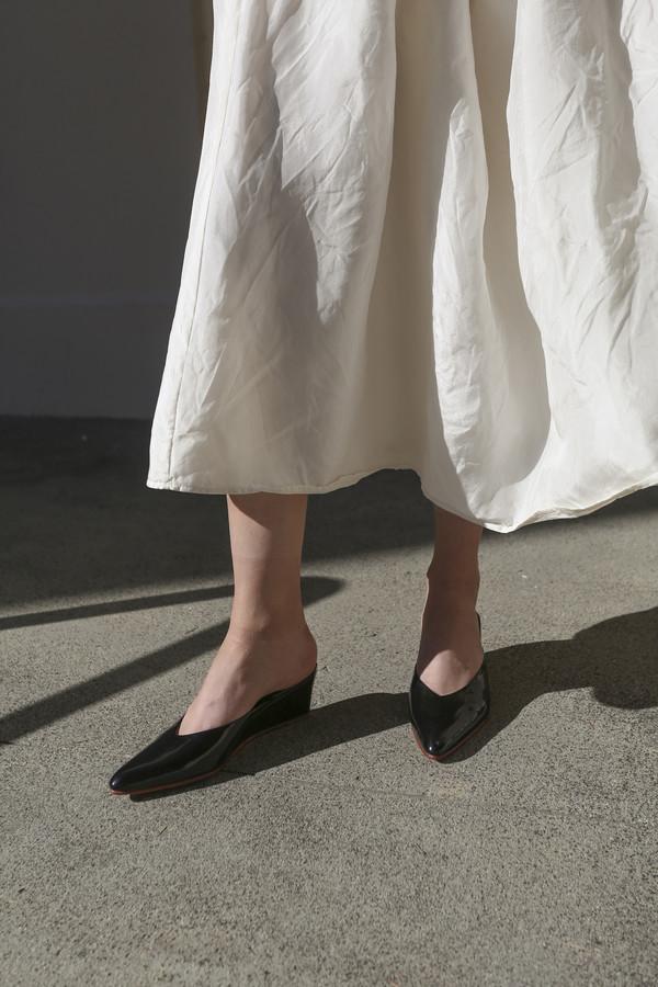 Rachel Comey Simone Slide in Black Patent