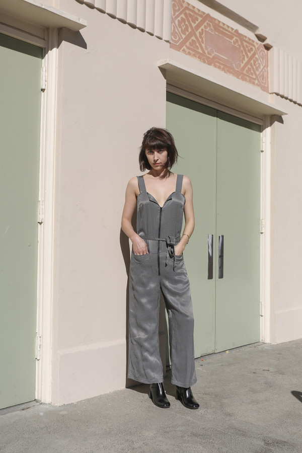 Rachel Comey Bend Jumpsuit in Black/White