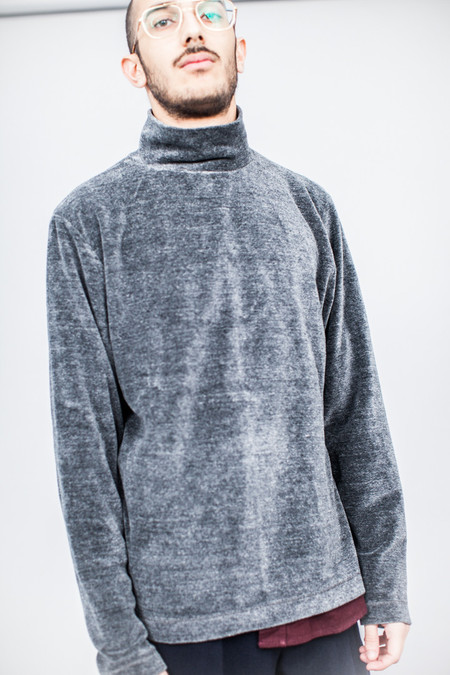 Our Legacy Turtleneck Grey Melange Velour