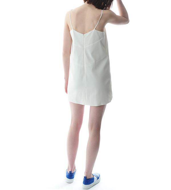 Mason By Michelle Mason Ivory Cut Out Shift Dress