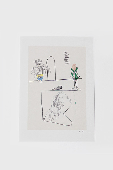 Shanti Shea An Hair Brush Boy Print