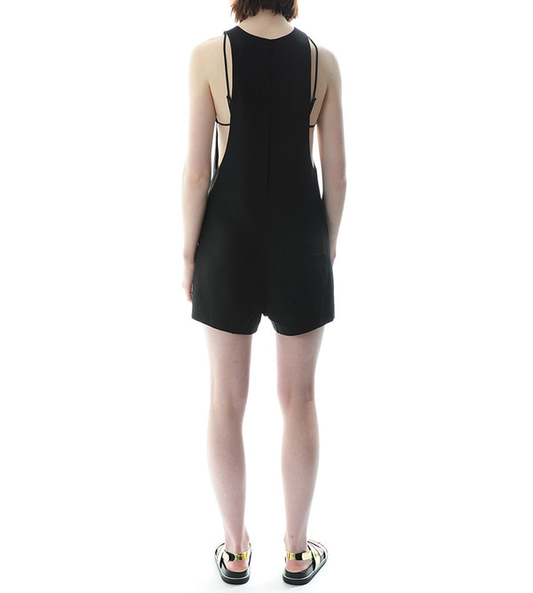 T By Alexander Wang - Poly Crepe Bra Strap Back Camisole Romper