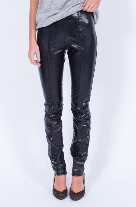Yo Vintage! BLACK MUGLER SKINNY PANTS (SMALL)