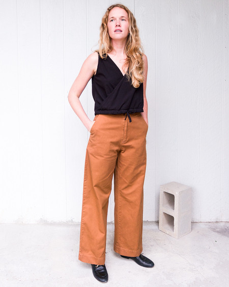 esby VAL TWILL PANT - CLAY