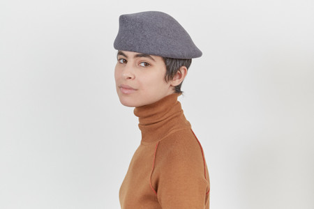 Clyde Sazy Hat in Charcoal Gray Wool